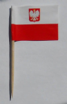 Poland Eagle Country Flag Cocktail Sticks (pack of 10)